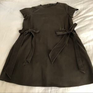 Zara dark olive green short dress
